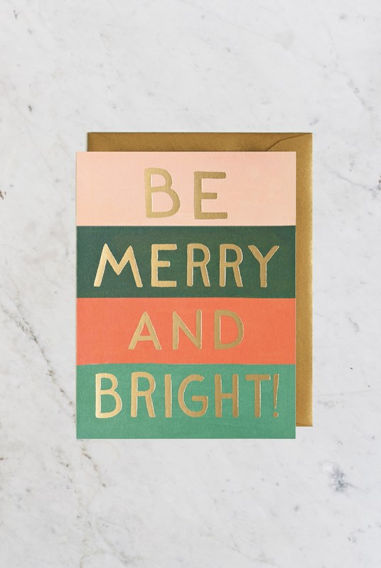 Rifle Paper Co - Single Card - Be Merry and Bright Color Block