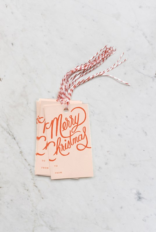 Rifle Paper Co - Gift Tag Set - Merry Christmas