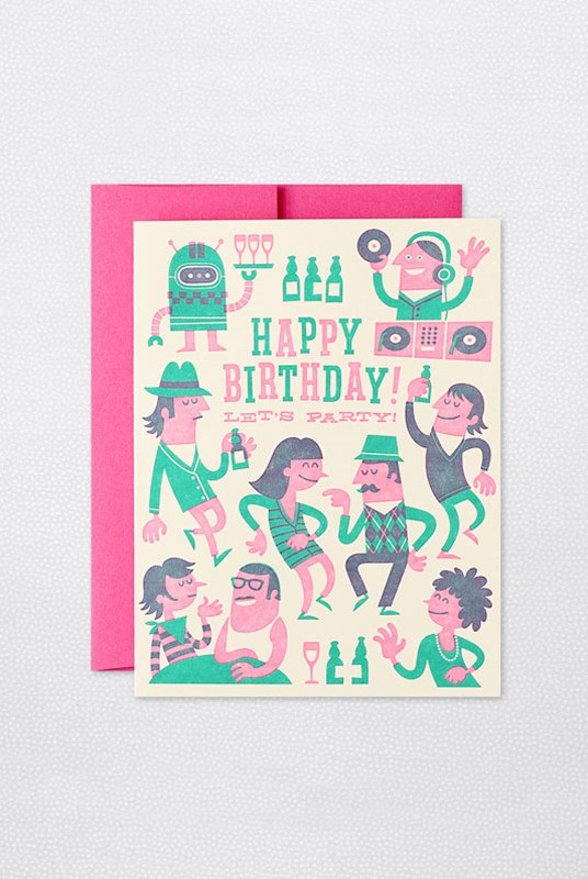 Hello Lucky - Single Card - Hipster Birthday