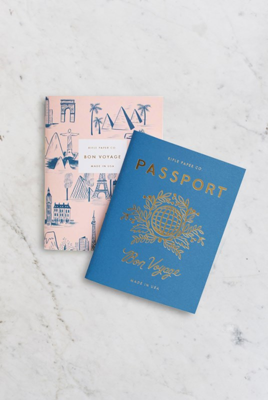 Rifle Paper Co - Pack of 2 Notebooks - Plain - Pocket - Passport