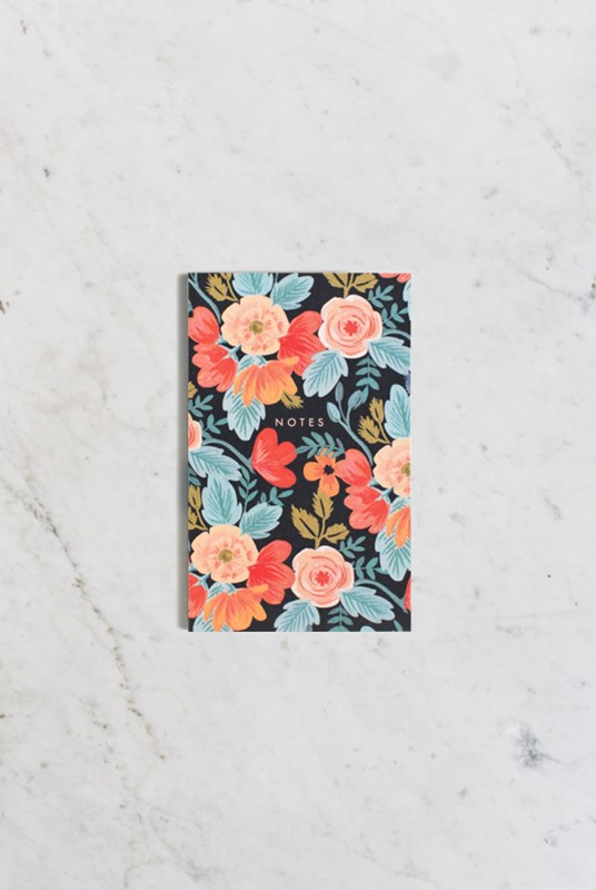 Rifle Paper Co - Pocket Notepad - Plain - Russian Rose