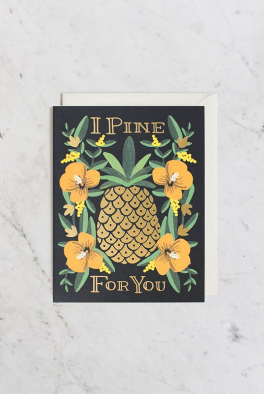 Rifle Paper Co - Single Card - I Pine for You