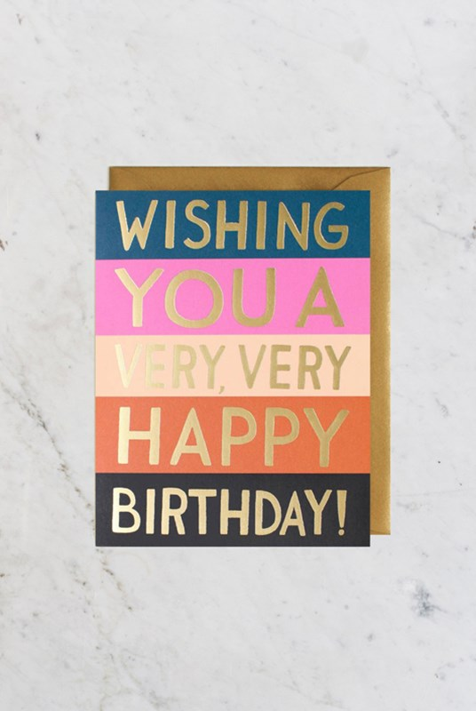Rifle Paper Co - Single Card - Colour Block Birthday