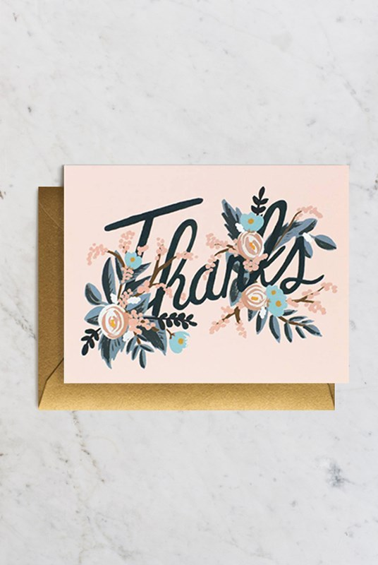 Rifle Paper Co - Single Card - Woodland Thank You