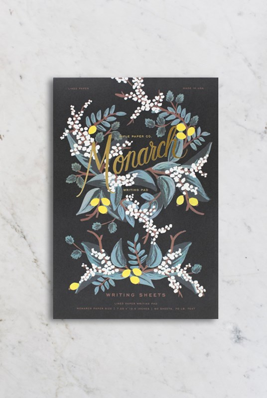 Rifle Paper Co - Writing Pad - Ruled - Monarch