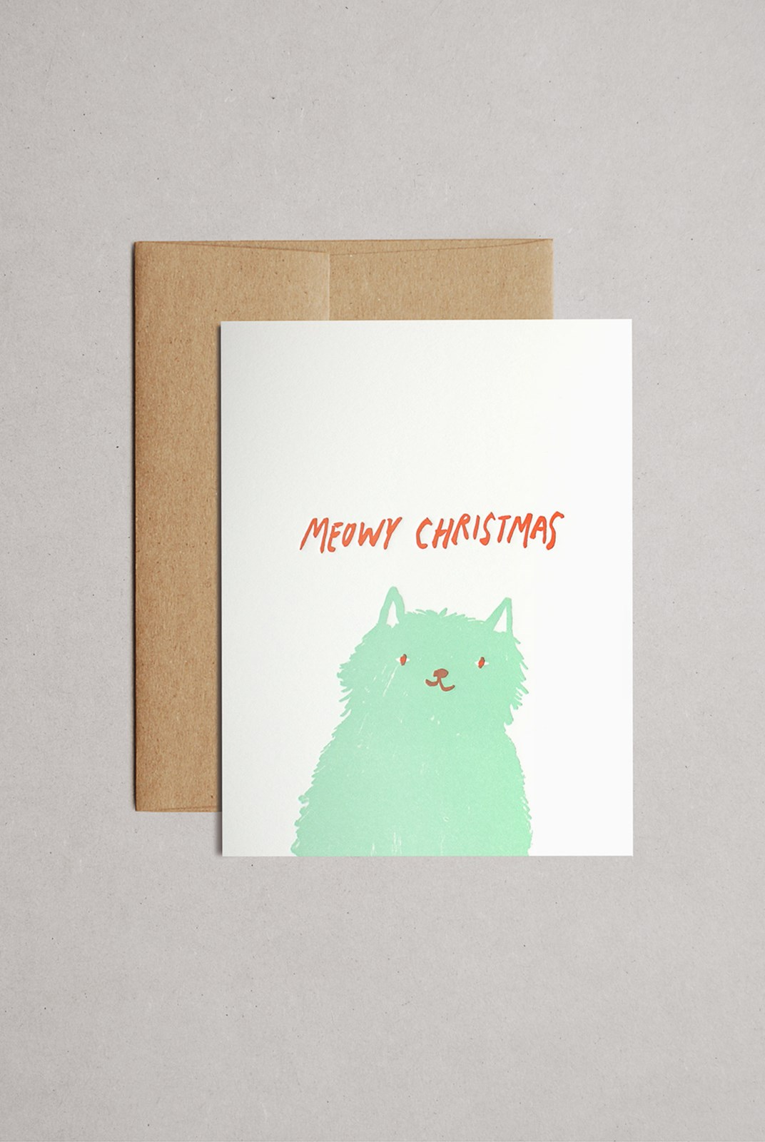 Egg Press - Single Card - Meowy Christmas