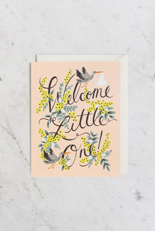 Rifle Paper Co - Single Card - Welcome Little One