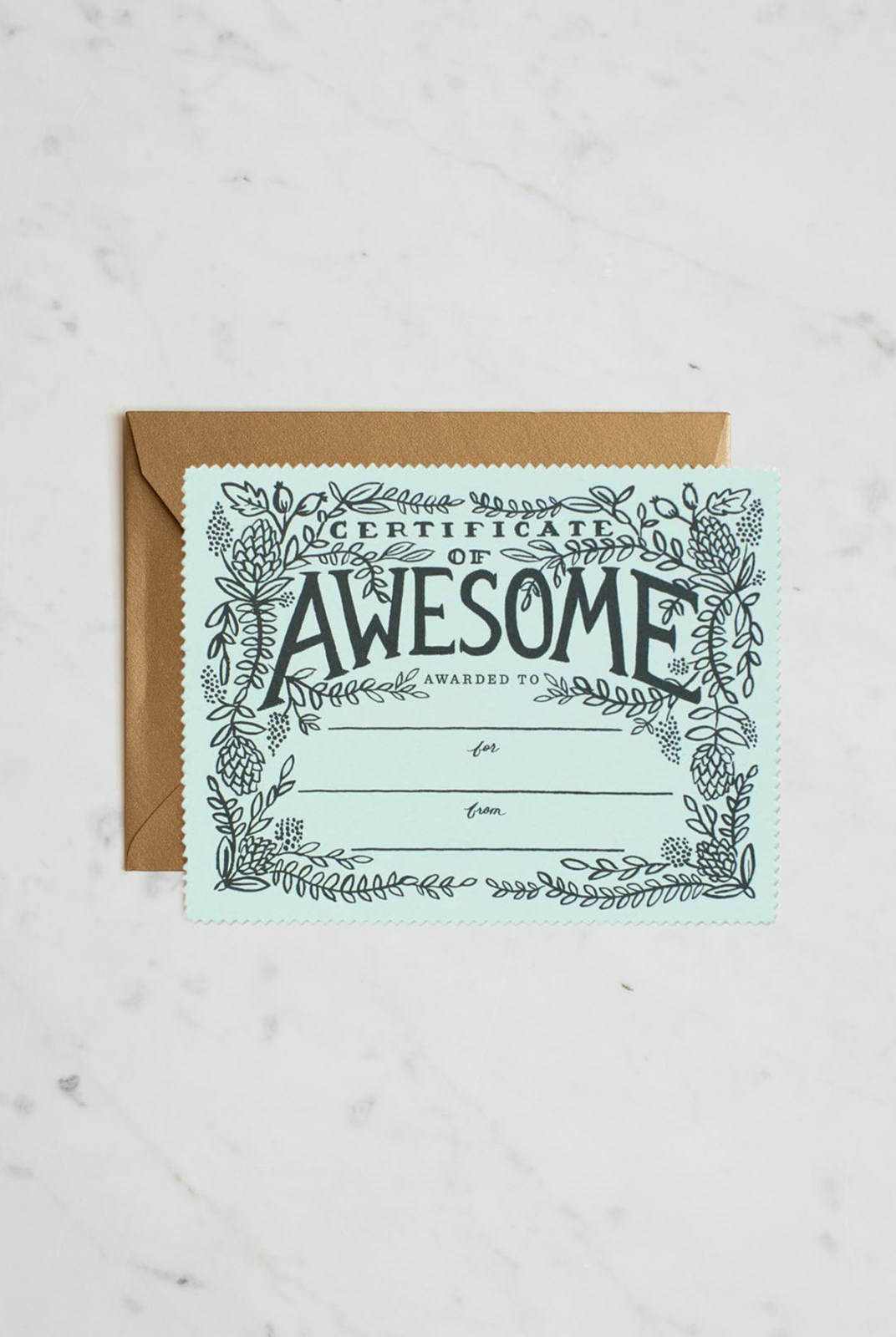 Rifle Paper Co - Certificate of Awesome (die-cut)
