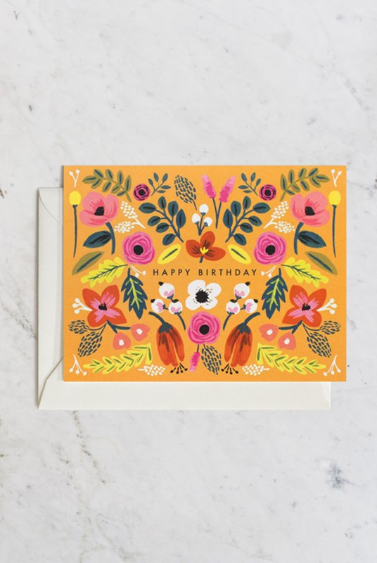 Rifle Paper Co - Single Card - Folk Birthday