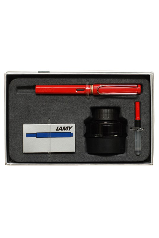LAMY - SAFARI - Gift Pack - Fountain Pen Medium - Red