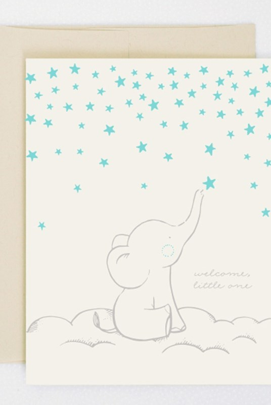 Hello Lucky - Single Card - Starry Elephant