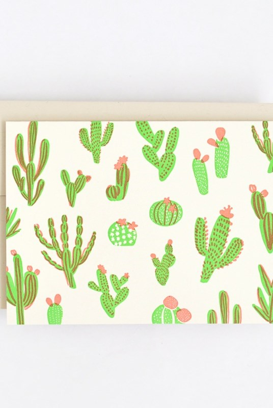 Hello Lucky - Single Card - Cacti