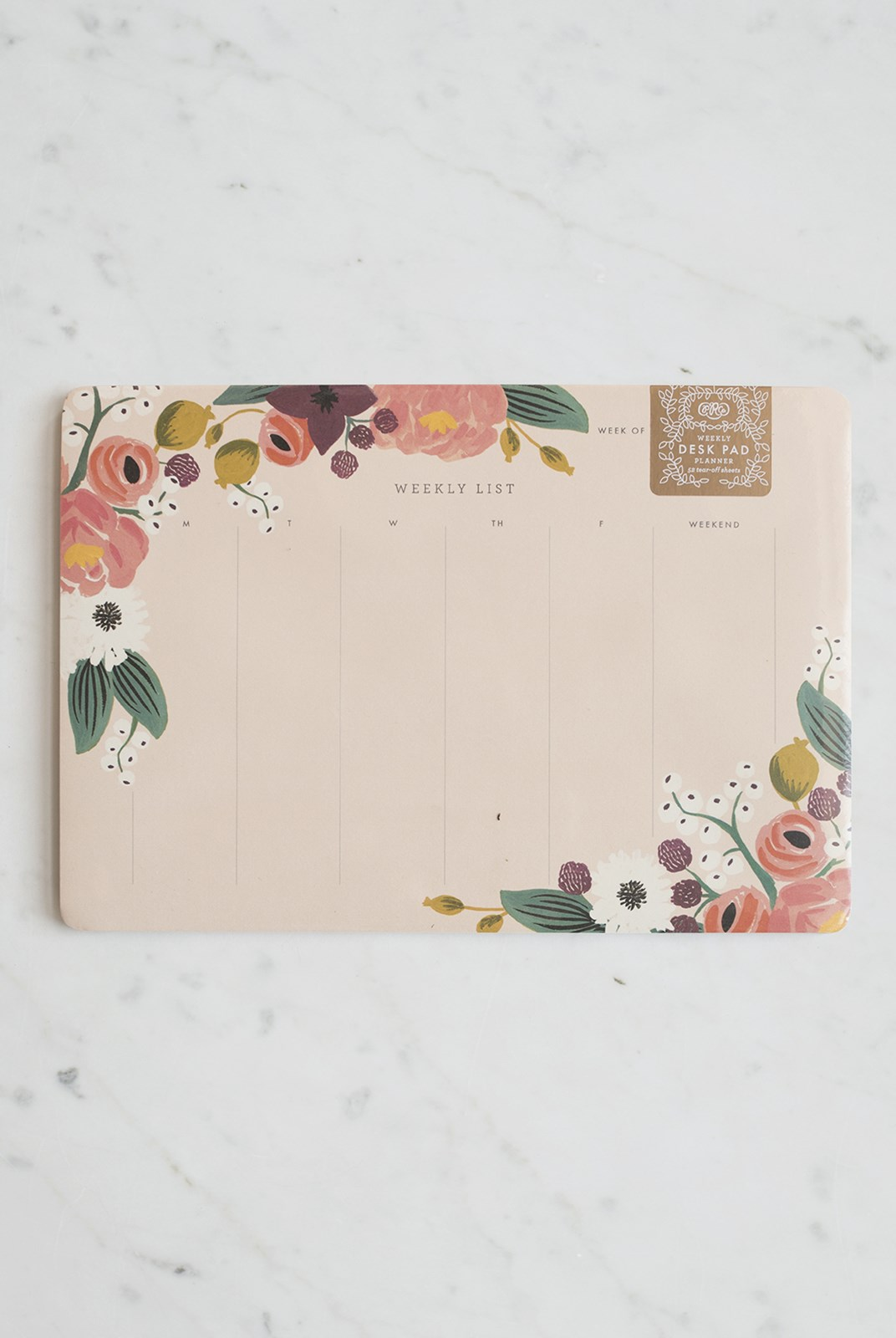 Rifle Paper Co - Weekly Deskpad - Pink Floral