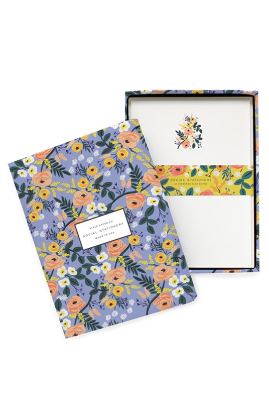 Rifle Paper Co - Social Stationery Set - Violet Floral