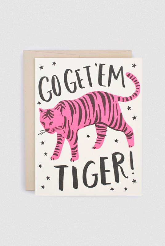 Hello Lucky - Single Card - Go Get 'Em Tiger