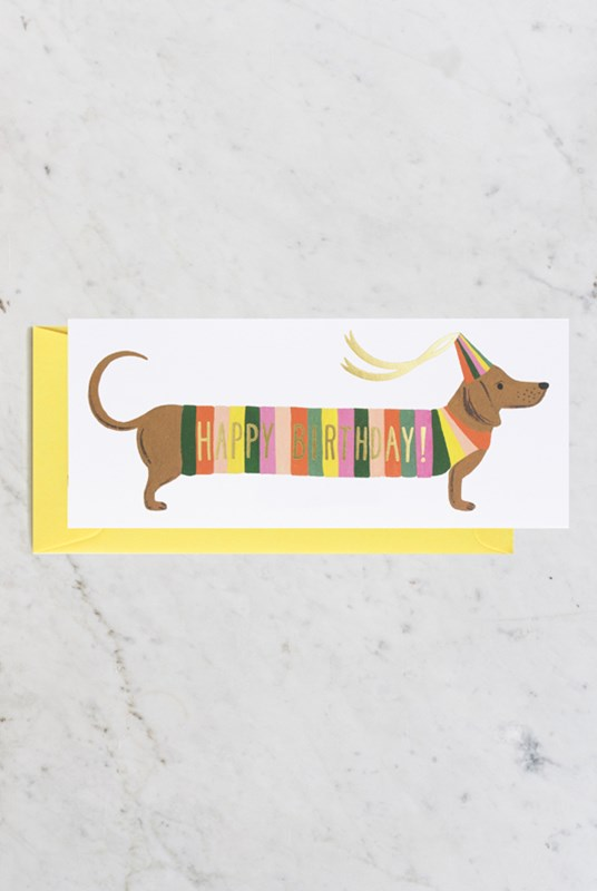 Rifle Paper Co - Single Long Card - Hot Dog No. 10