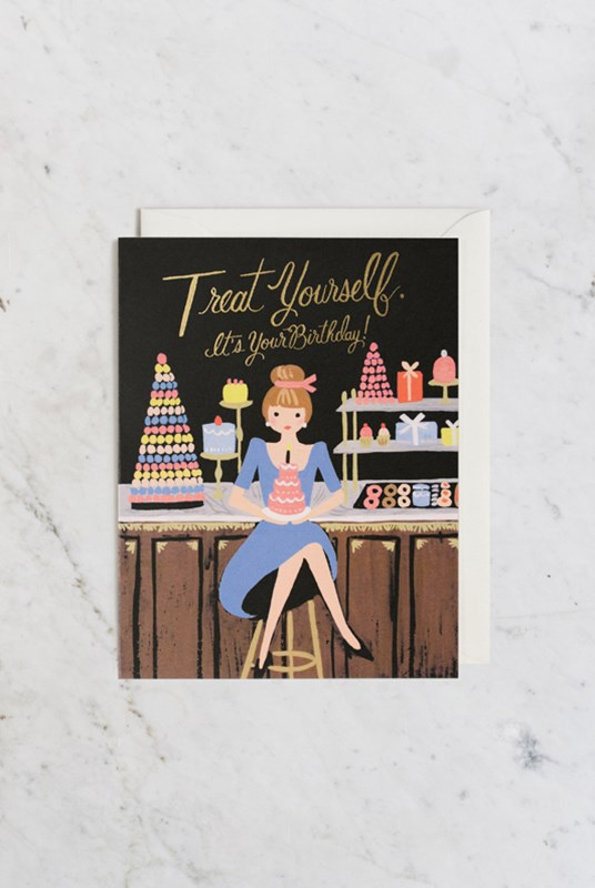 Rifle Paper Co - Single Card - Treat Yourself Birthday