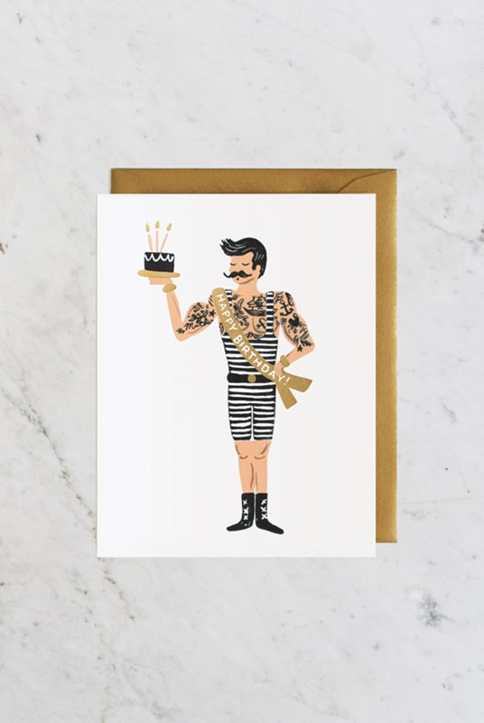 Rifle Paper Co - Single Card - Strongman Birthday