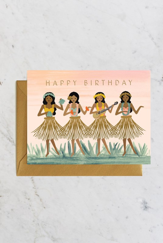 Rifle Paper Co - Single Card - Hula Birthday