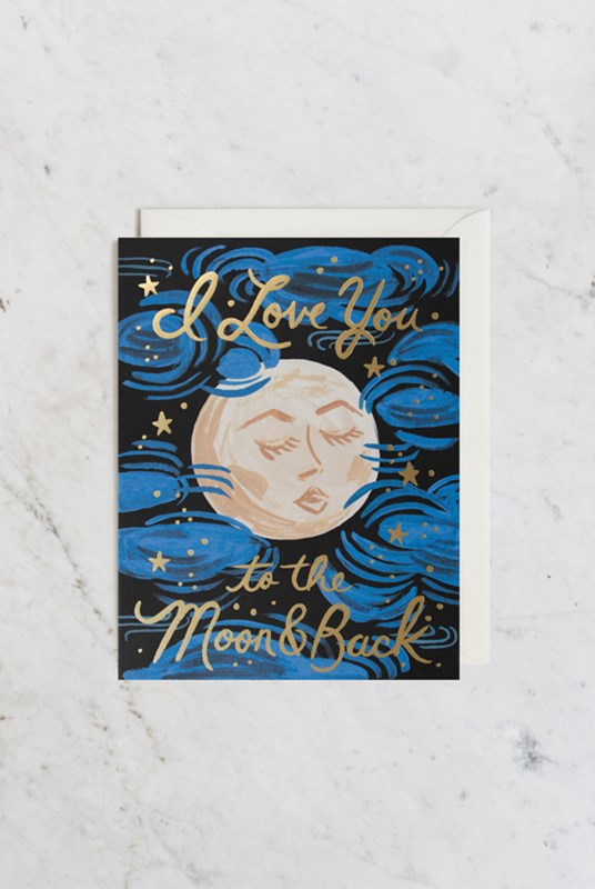 Rifle Paper Co - Single Card - To the Moon and Back