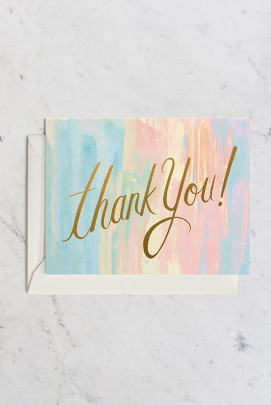 Rifle Paper Co - Single Card - Watercolor Thank You