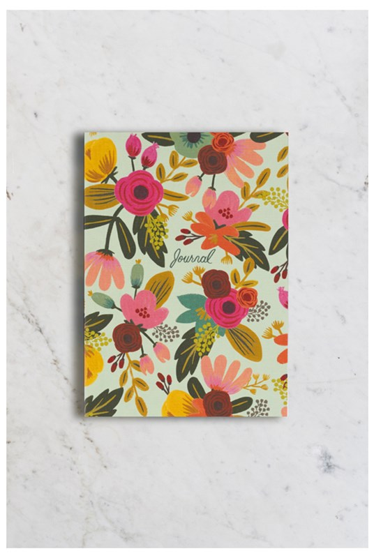 Rifle Paper Co - Journal - Ruled - Medium - Mint Floral