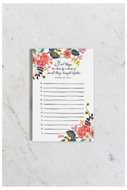 Rifle Paper Co - Notepad - Great Things