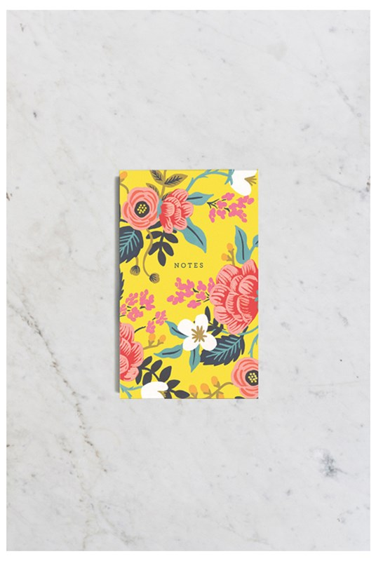 Rifle Paper Co - Pocket Notepad - Plain - Birch Floral