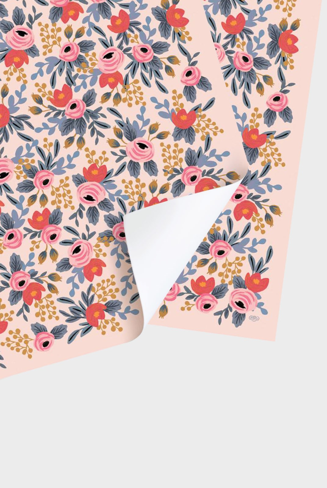 Rifle Paper Co - Single Wrapping Sheet - Blushing Rosa