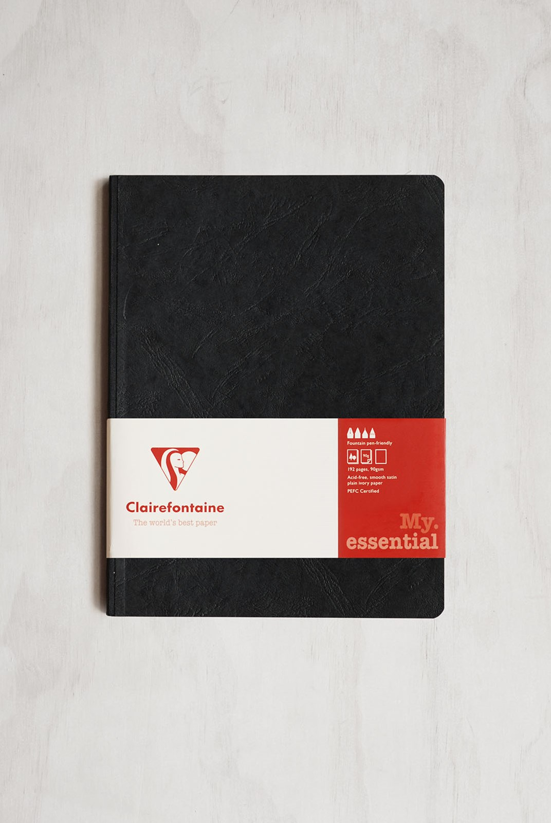 Clairefontaine - Clothbound Notebook - Plain - B5 - Black