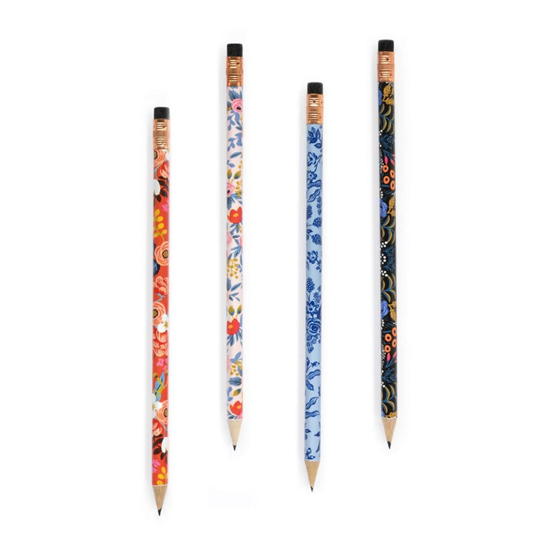 Rifle Paper Co - Graphite Pencils - Set of 12 - Floral