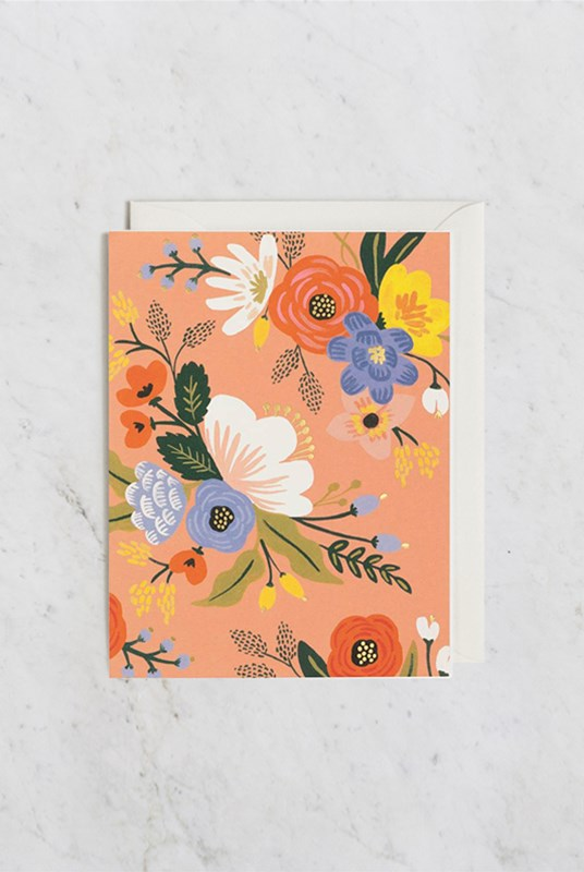Rifle Paper Co - Single Card - Lively Floral Pink
