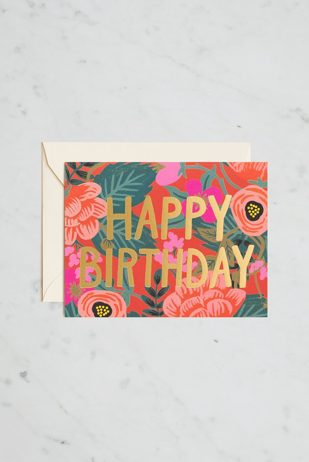 Rifle Paper Co - Single Card - Poppy Birthday