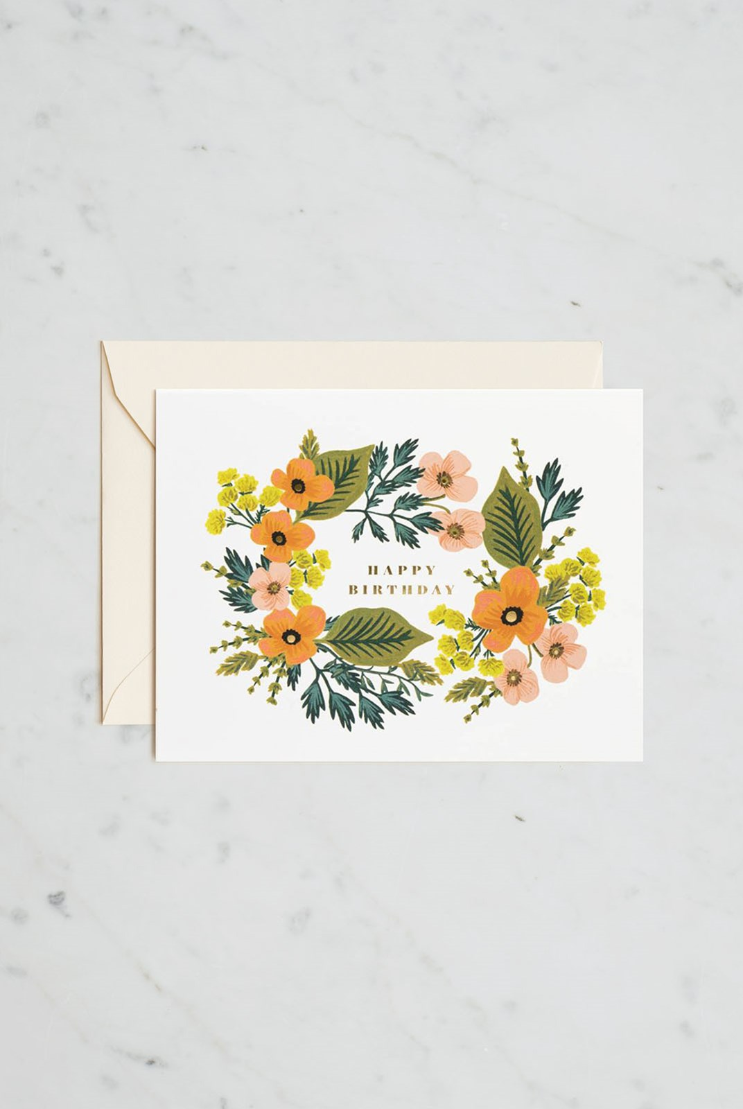 Rifle Paper Co - Single Card - Happy Birthday Bouquet