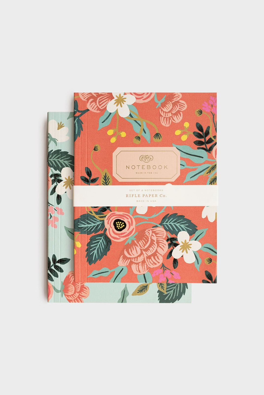 Rifle Paper Co - Pack of 2 Notebooks - Plain - Large - Birch