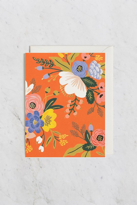Rifle Paper Co - Single Card - Lively Floral Red