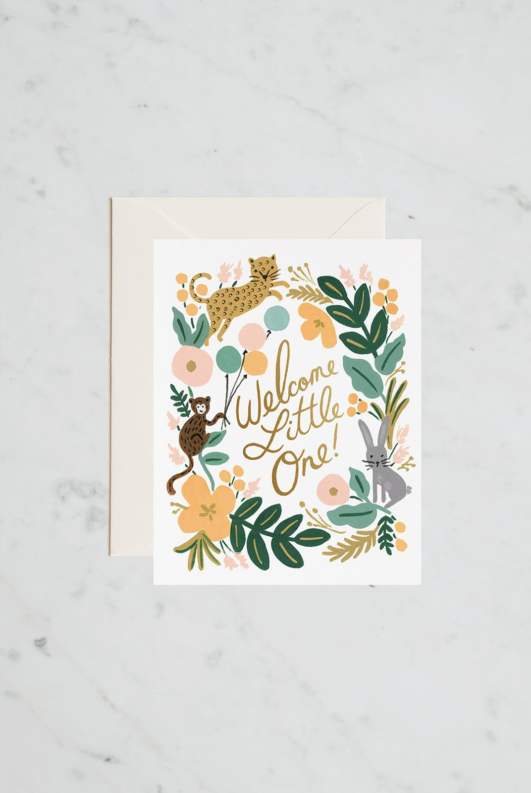 Rifle Paper Co - Single Card - Menagerie Baby