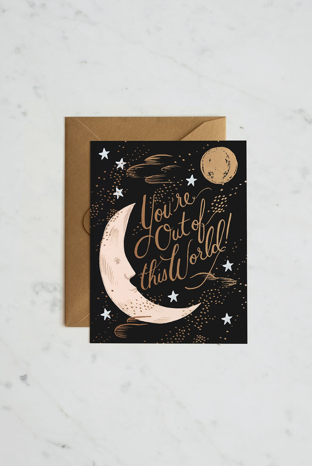 Rifle Paper Co - Single Card - You're Out of This World
