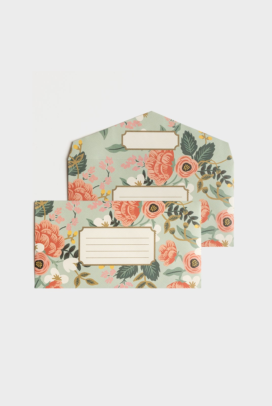 Rifle Paper Co - Envelopes - Boxed Set of 25 - Mint Birch Monarch