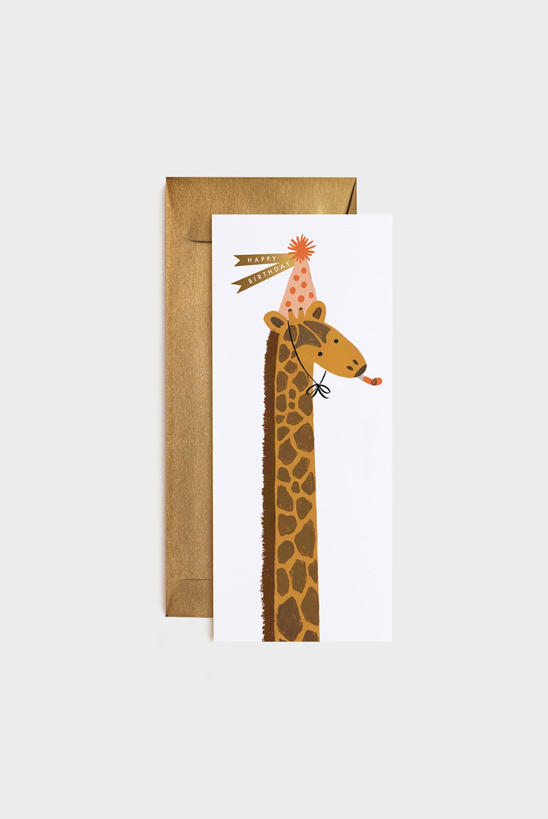 Rifle Paper Co - Single Long Card - Giraffe Birthday