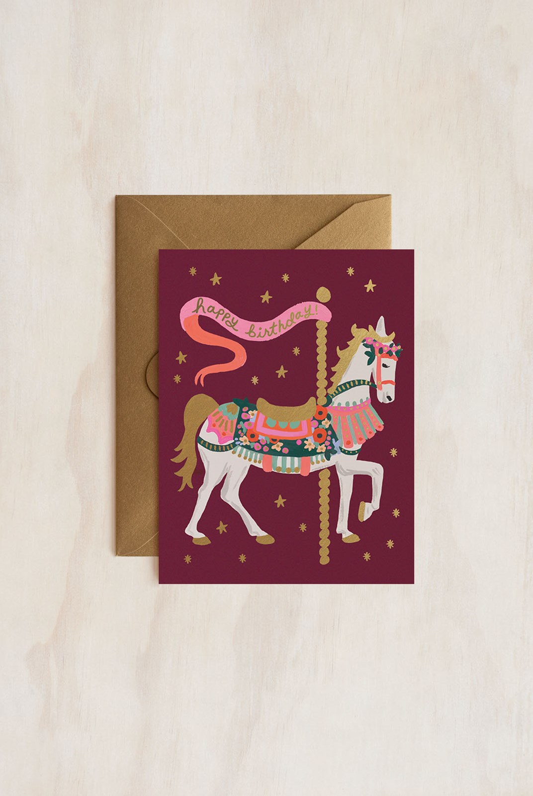 Rifle Paper Co - Single Card - Carousel Birthday