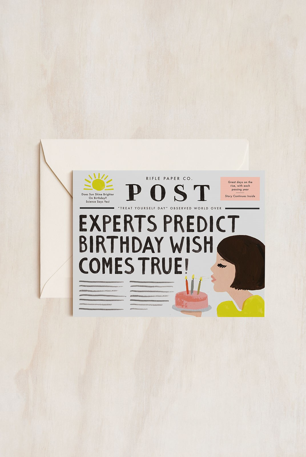 Rifle Paper Co - Single Card - Breaking News Birthday