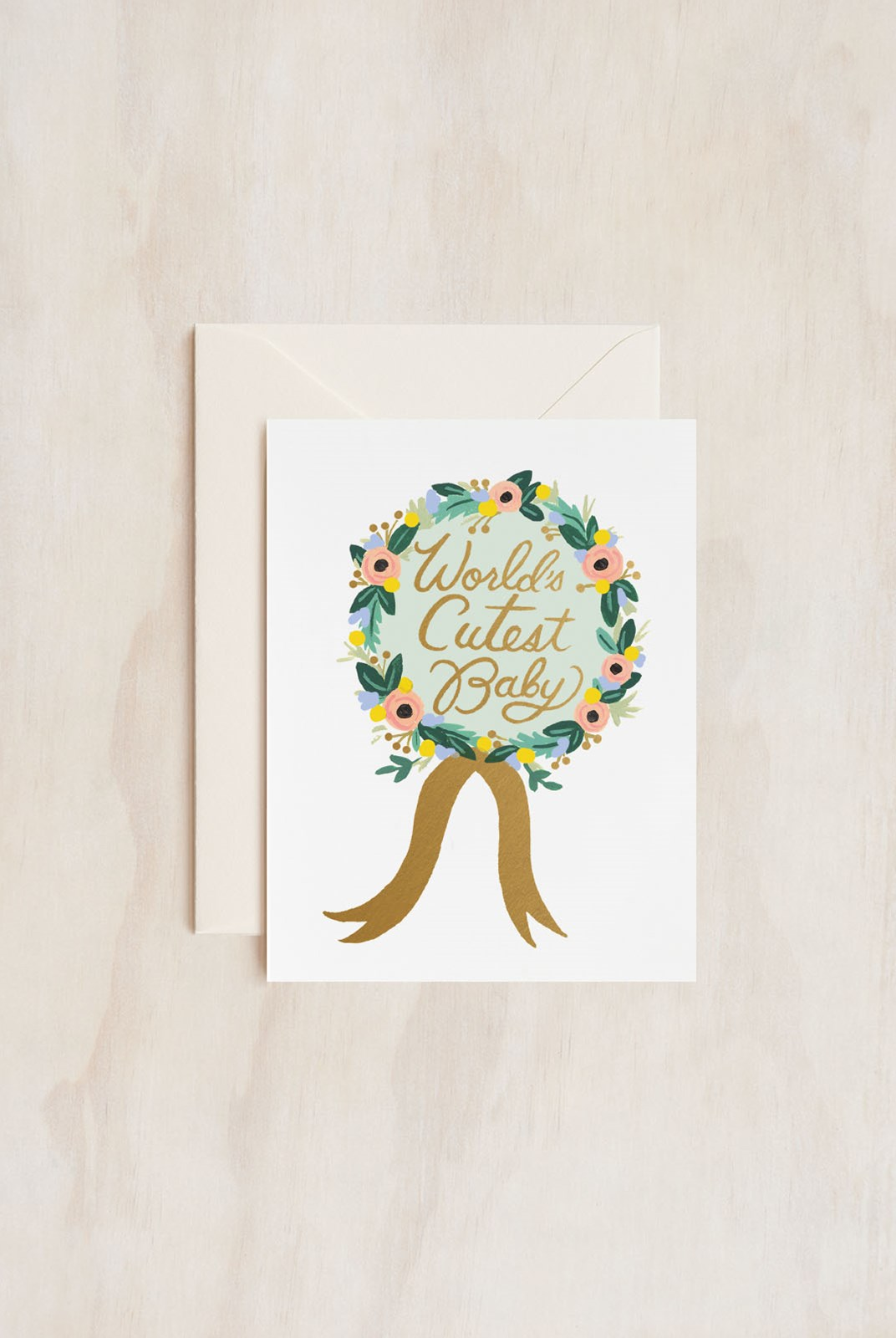Rifle Paper Co - Single Card - World's Cutest Baby