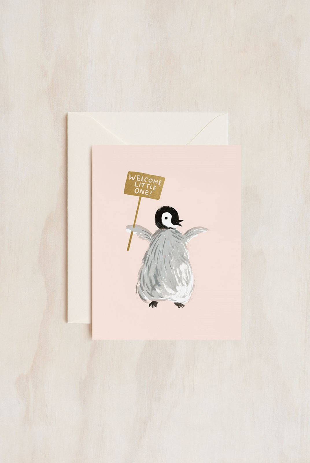 Rifle Paper Co - Single Card - Welcome Penguin