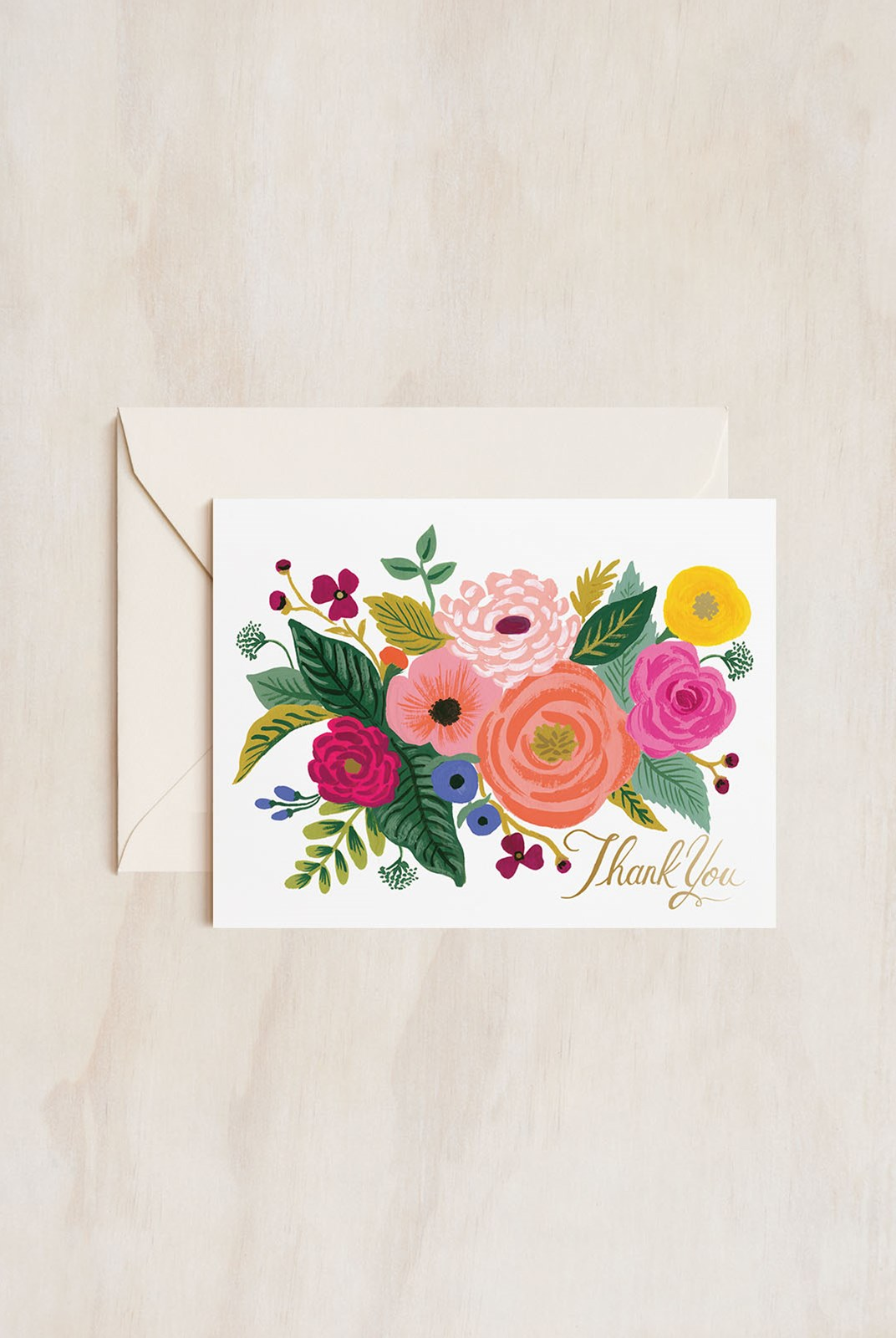 Rifle Paper Co - Single Card - Juliet Rose Thank You