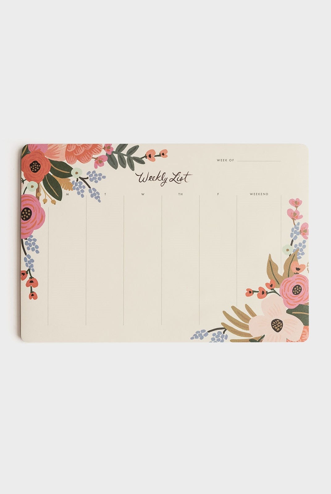 Rifle Paper Co - Weekly Deskpad - Lively Floral