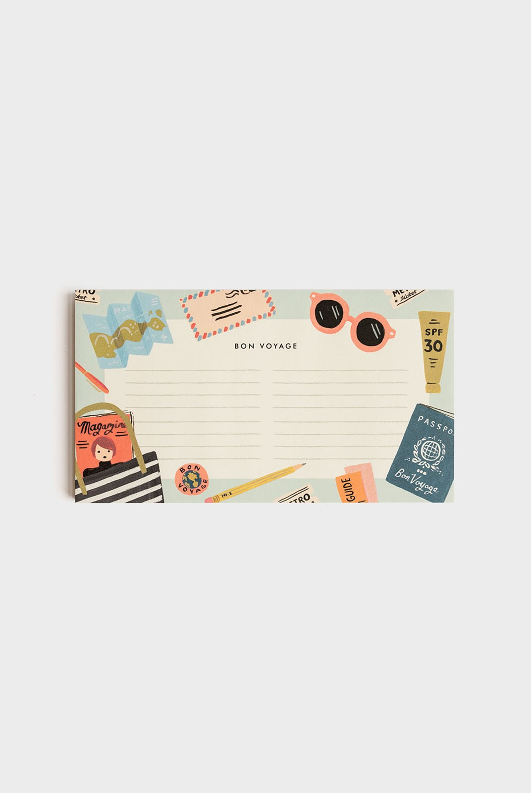Rifle Paper Co - Notepad - Bon Voyage