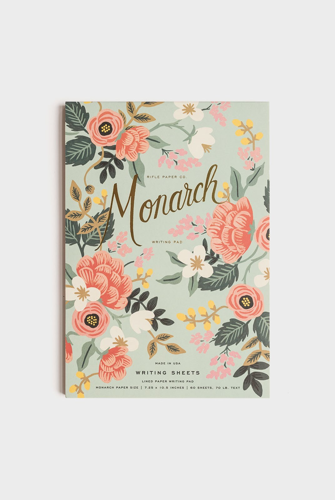Rifle Paper Co - Writing Pad - Ruled - Mint Birch Monarch