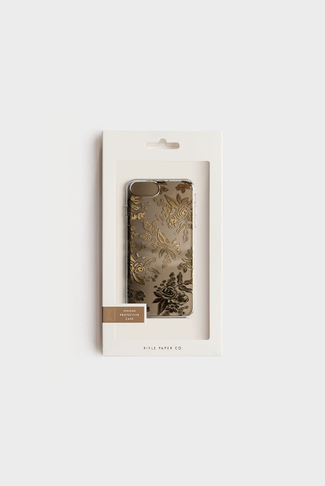 Rifle Paper Co - iPhone 6/7/8 Hard Case - Clear Gold Floral Toile