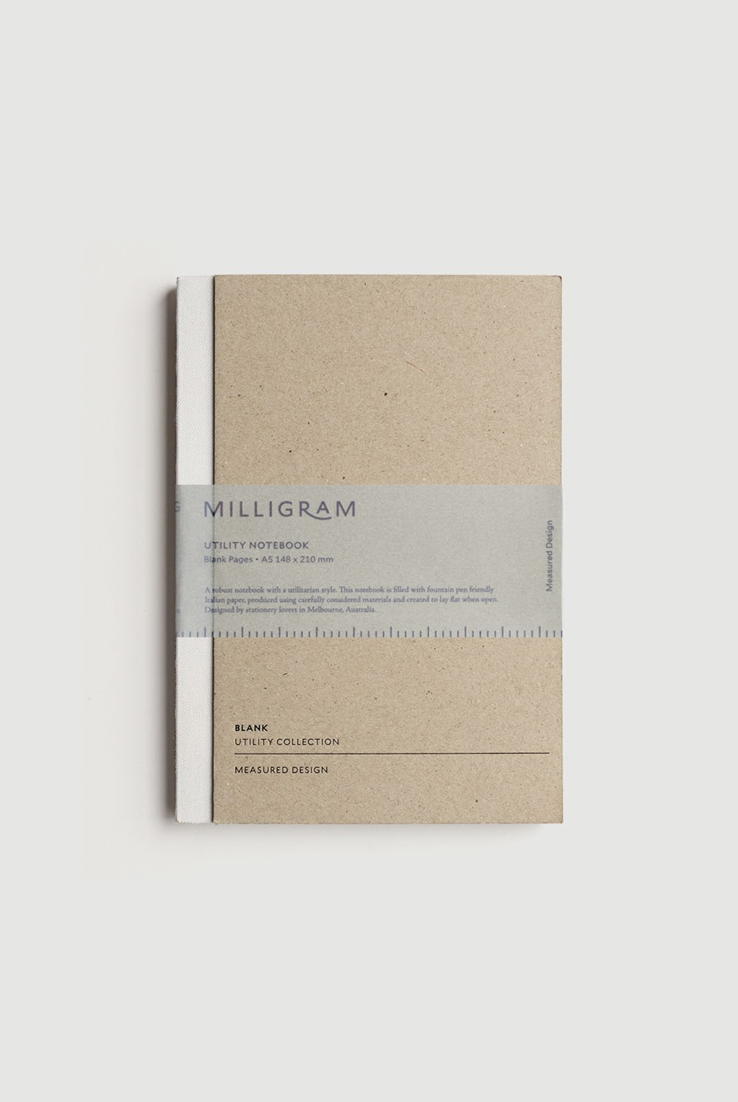 Milligram - Utility Notebook - Blank - A5 - White